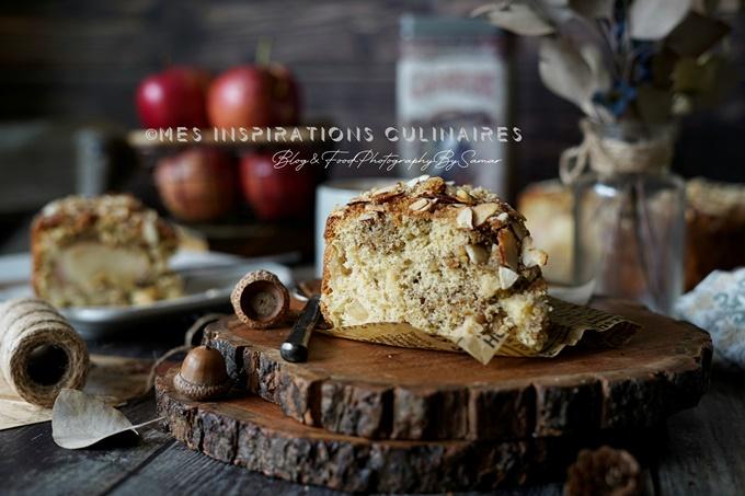 Gâteau aux pommes et noix sans beurre
