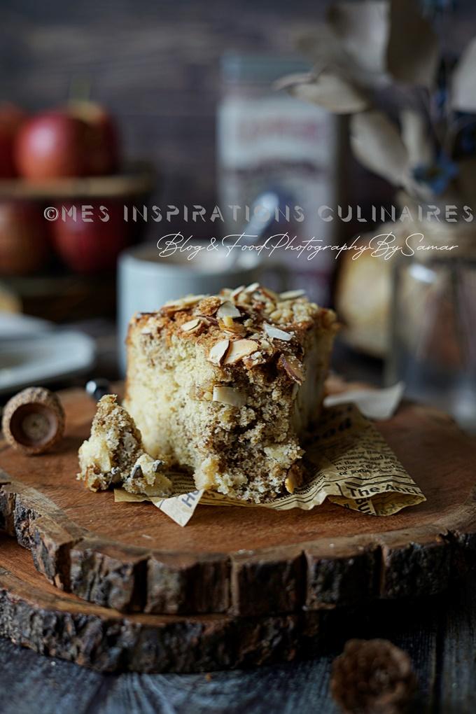 Gâteau aux pommes et aux noix sans beurre