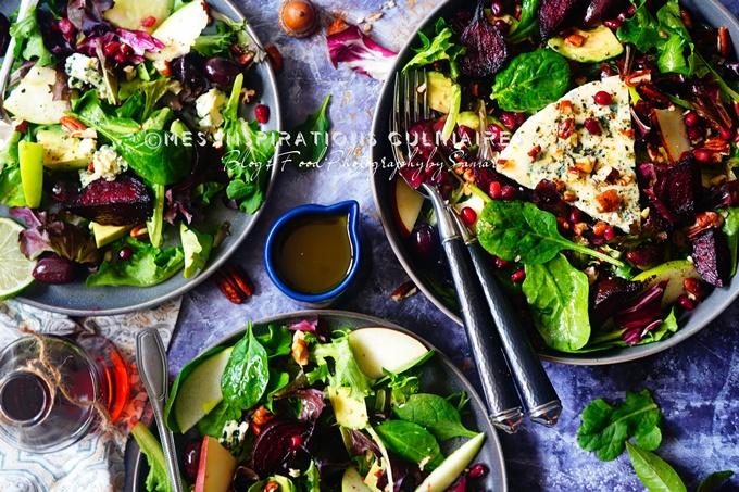 Recette salade d'hiver vinaigrette sirop d'erable