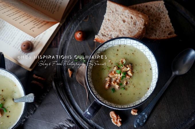 Soupe salsifis et poireaux, recette végétarienne