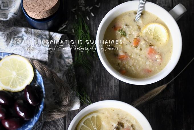 Soupe de riz grecque et citron (avgolemono), recette Végan
