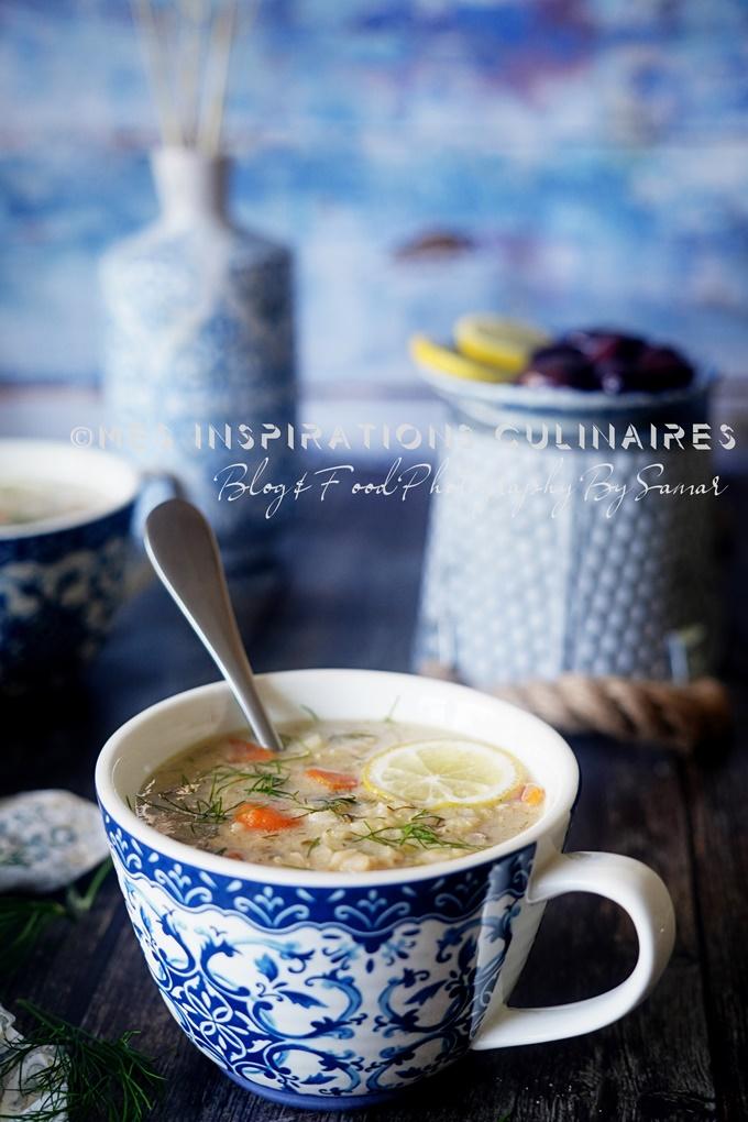 Soupe a l'Avgolemono, recette vegetarienne