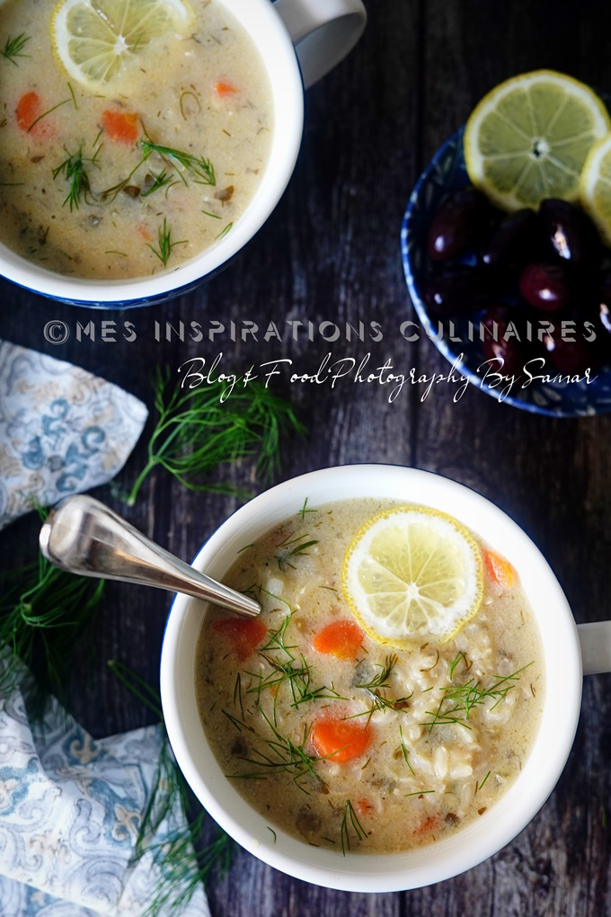 Soupe de riz a l'Avgolemono, recette Végan