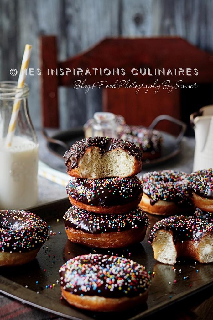 Les donuts maison au chocolat