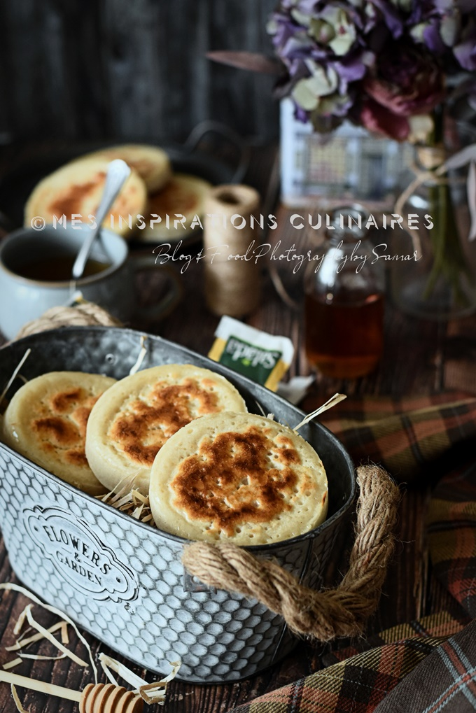 Les crumpets ou crêpes anglaises