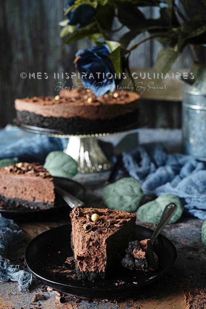 Cheesecake sans cuisson facile au chocolat