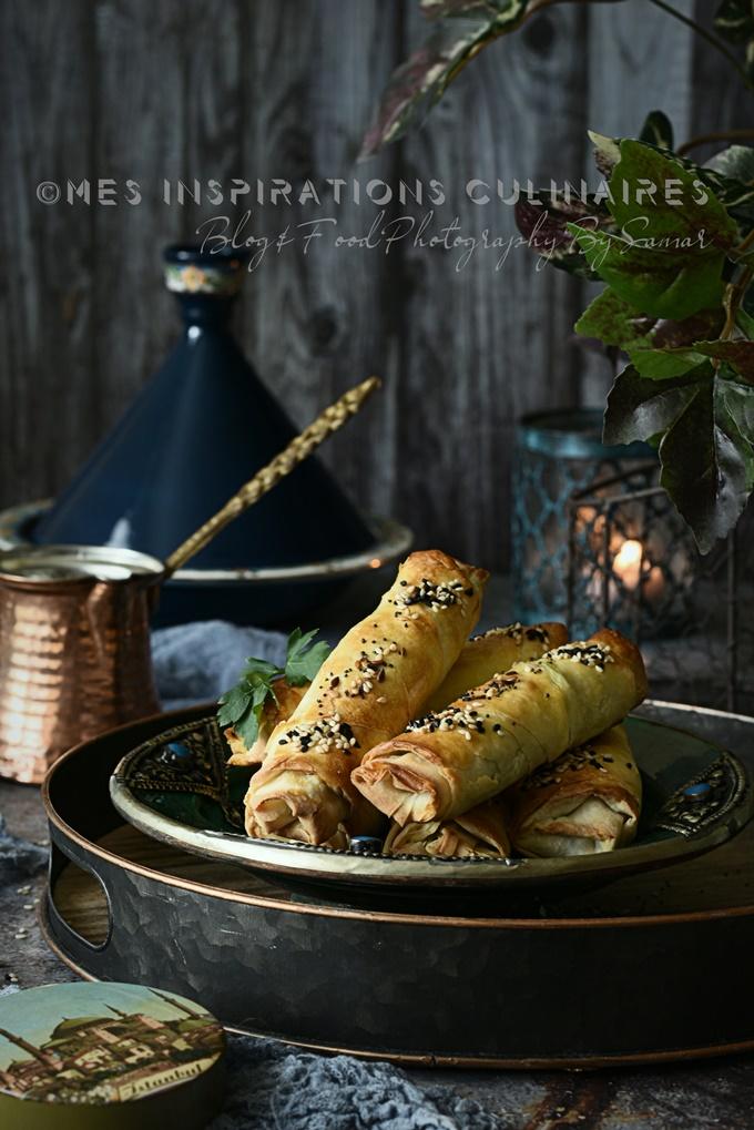 Borek turc a la feta cuisson au four a la feuille Yufka