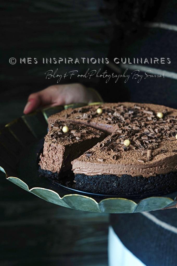 Cheesecake sans cuisson au chocolat