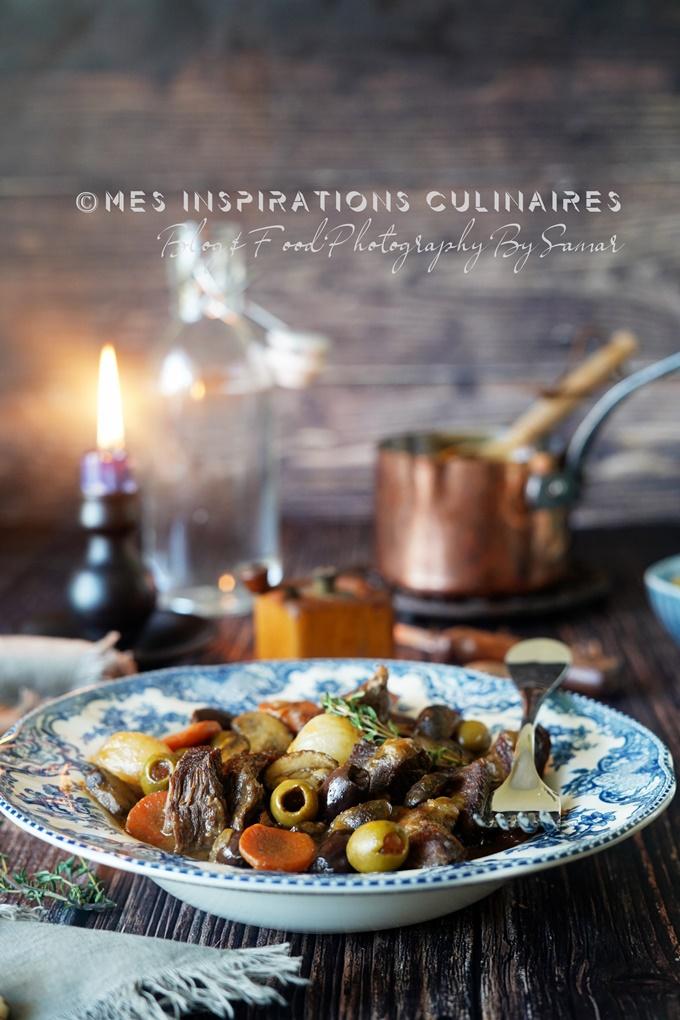 Sauté de veau aux olives et carottes