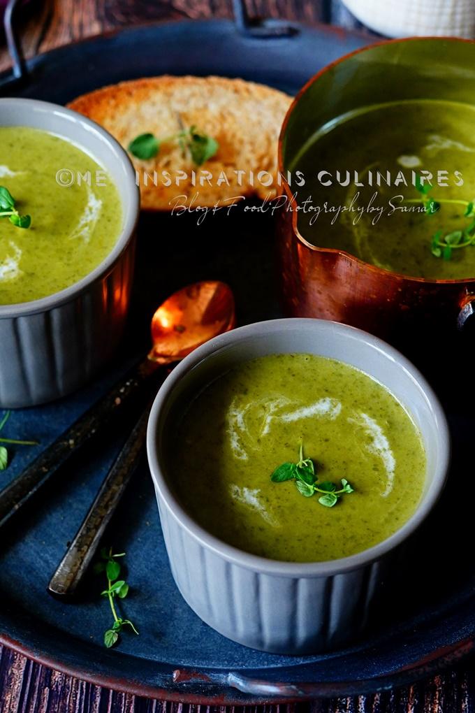 Soupe de chou vert et poireaux