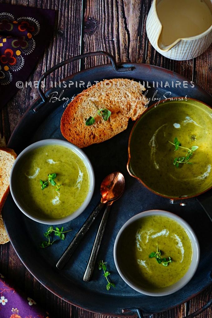 soupe cremeuse de chou vert