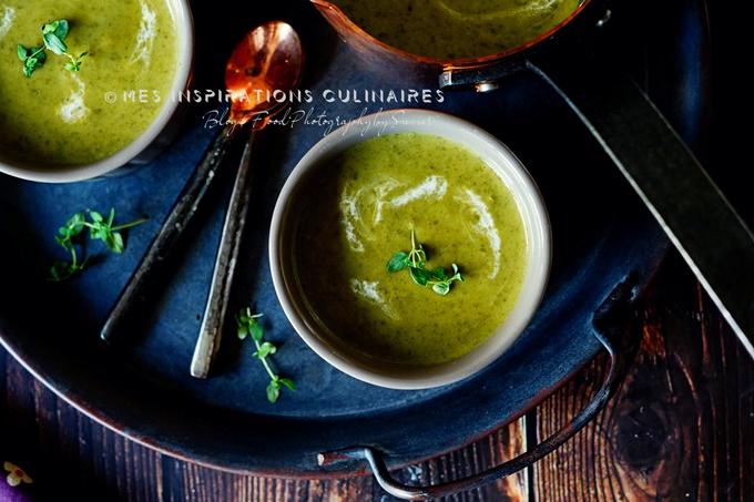 Soupe au chou vert et poireau
