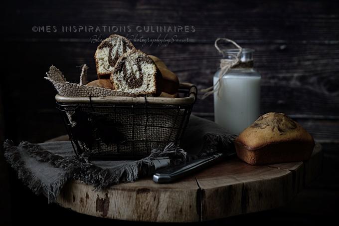 Muffins marbré chocolat vanille