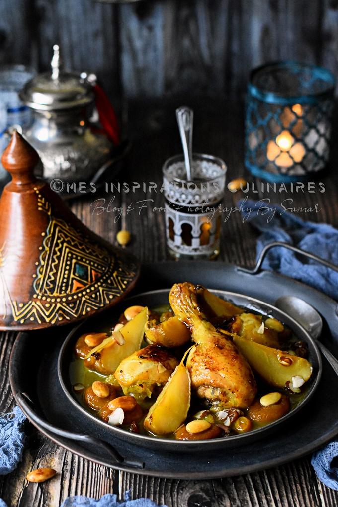 Tajine hlou aux poires et pilons de poulet