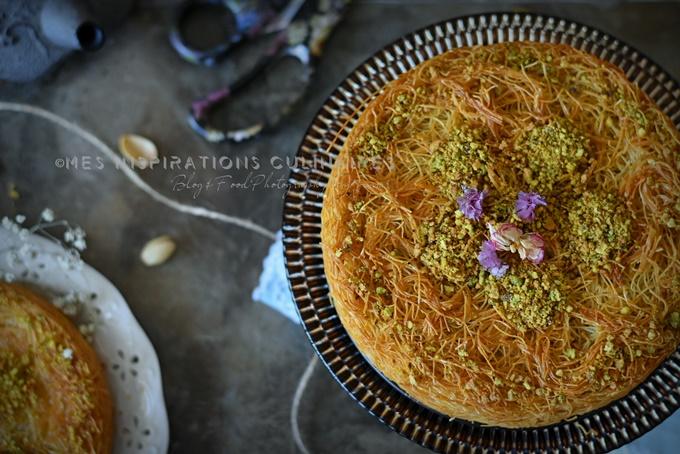 Kunafa à la crème (Konafa turque)