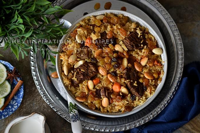 Riz à l'agneau recette saoudienne (Kabsa)