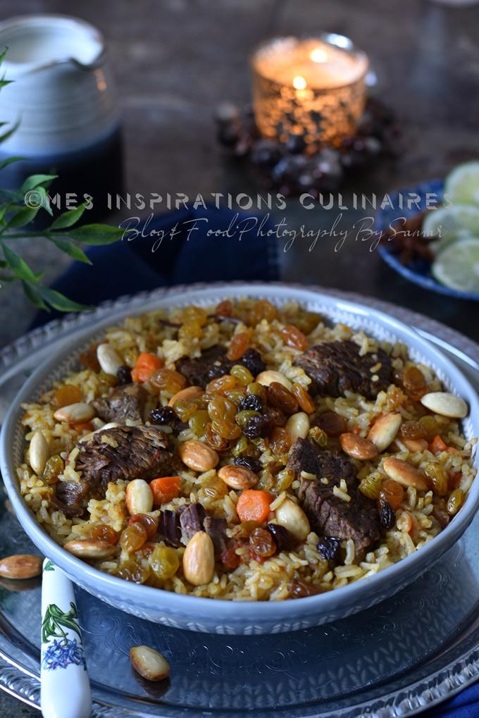 Riz aux amandes et raisins secs