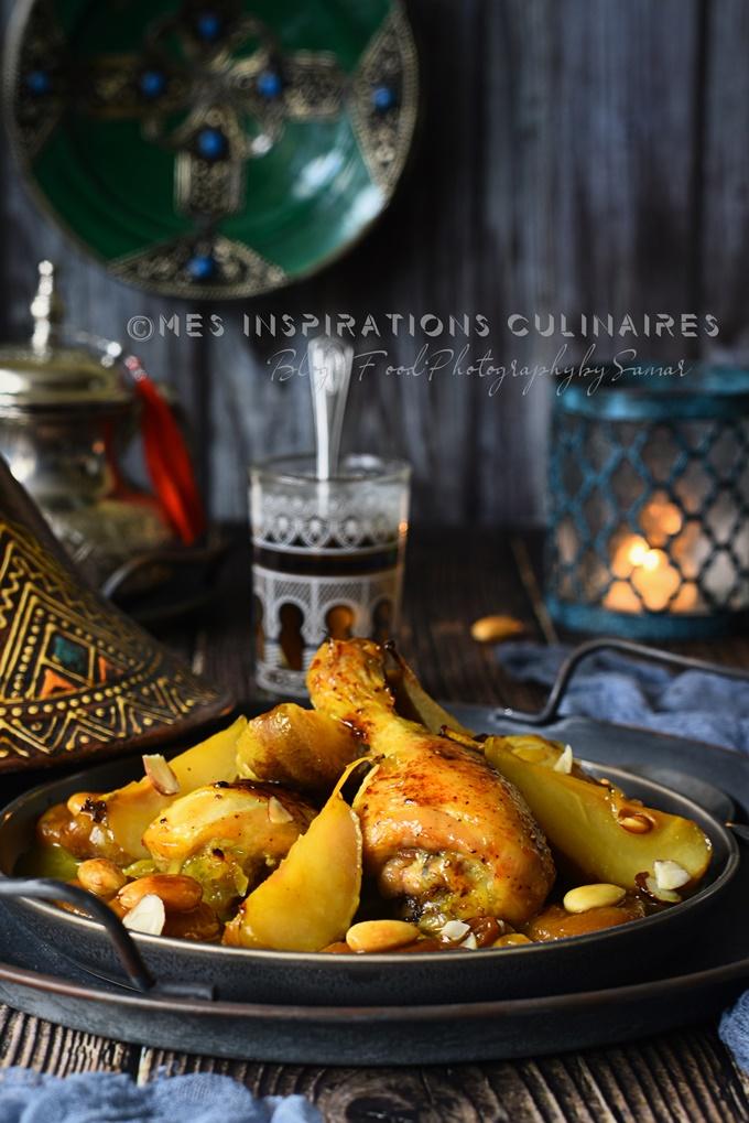 Recette tajine marocain sucre-sale aux poires