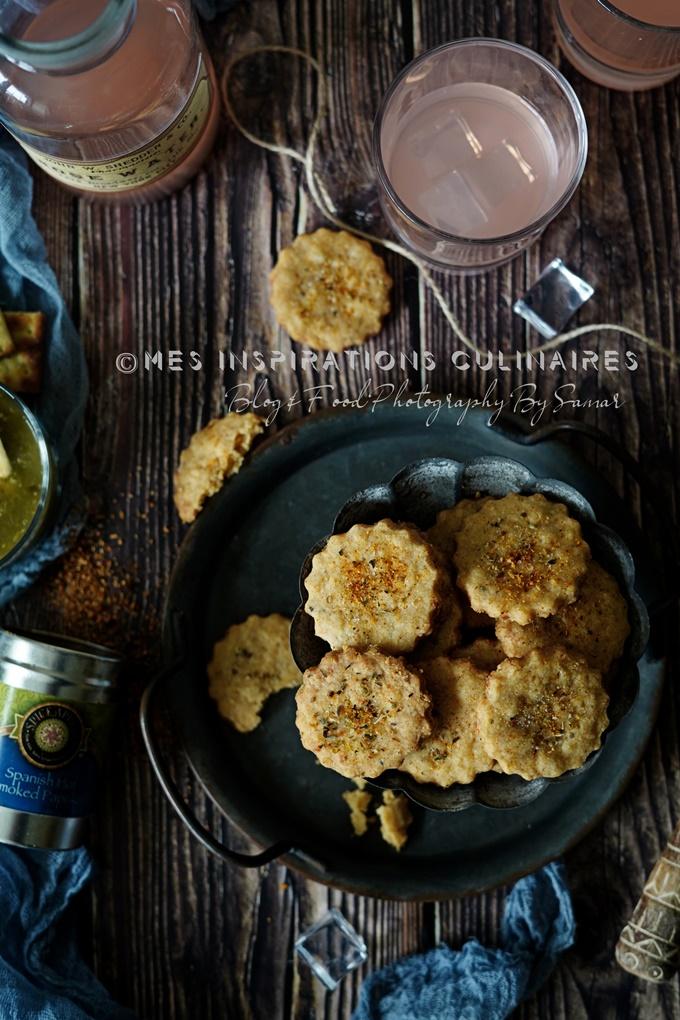 recette crackers au paprika fuméa et cheddar