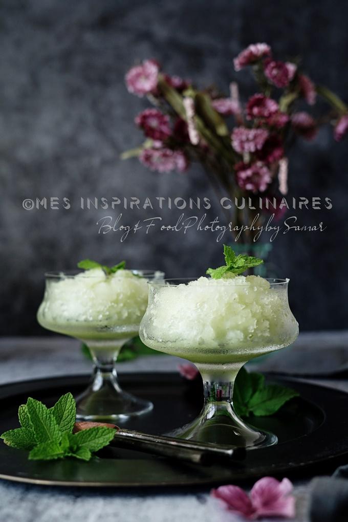 Granité au melon vert et menthe fraîche