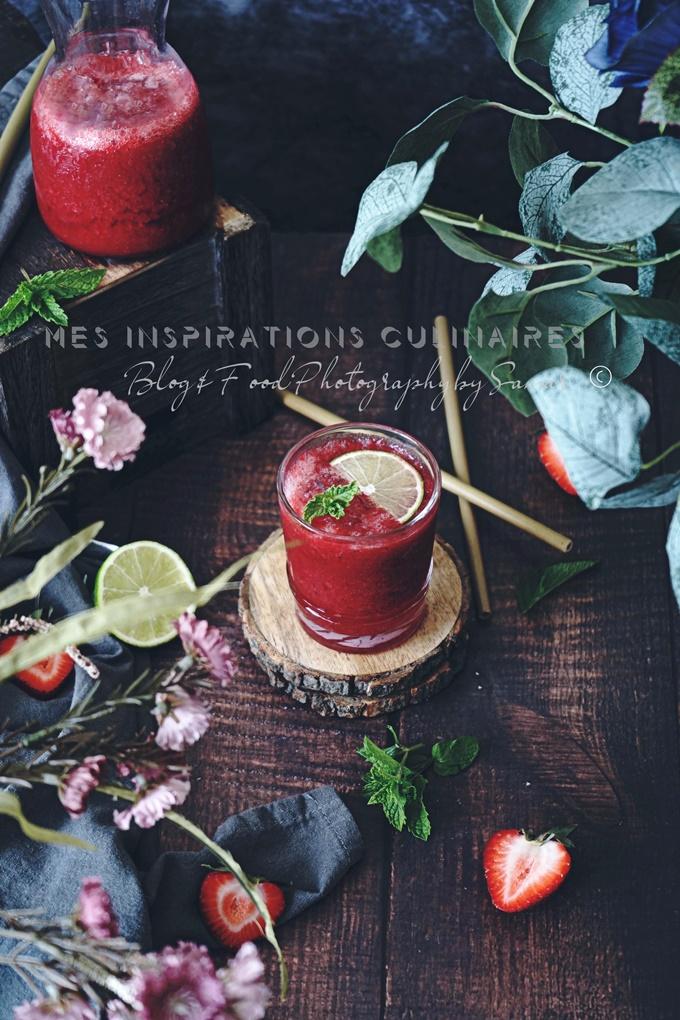 Recette boisson au fruit rouge