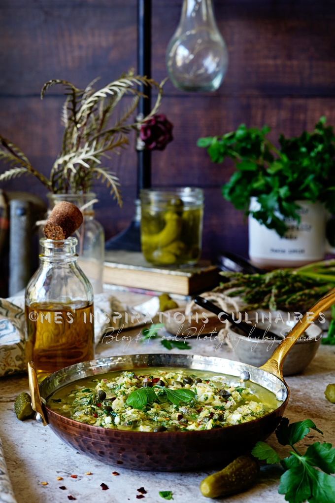 Sauce aux oeufs durs et herbes