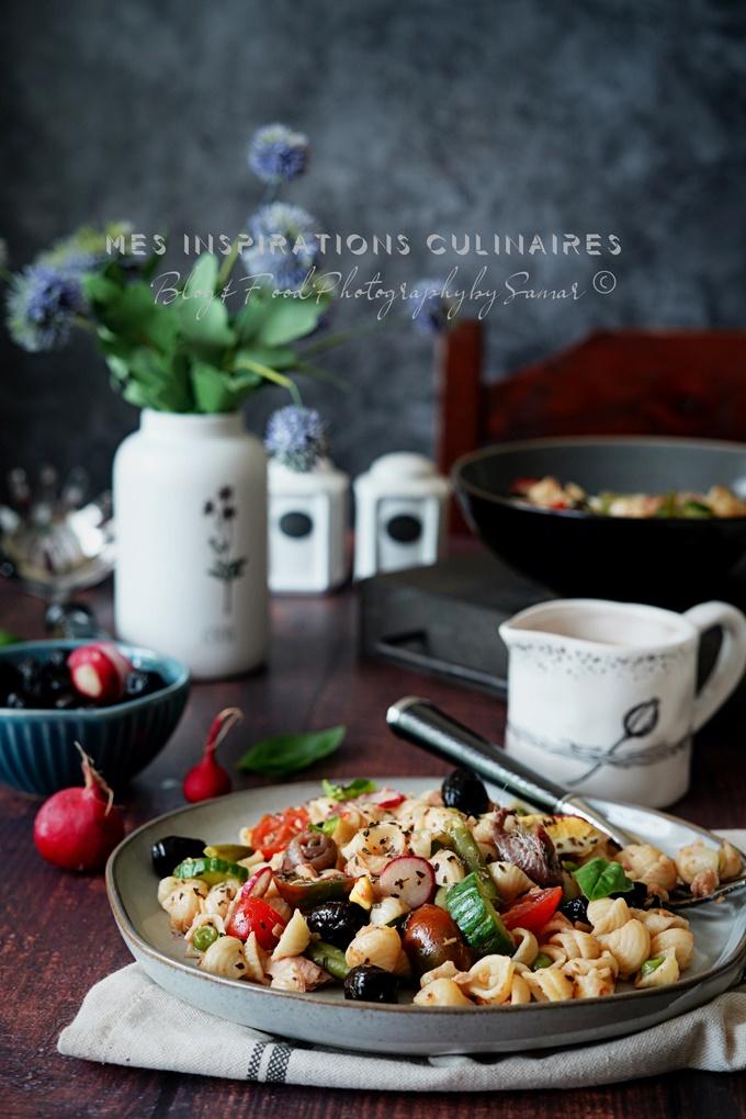Salade niçoise aux pâtes