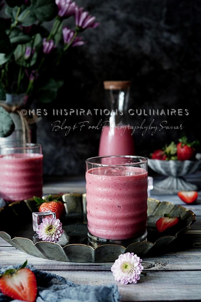 Recette de smoothie aux fraises et concombre