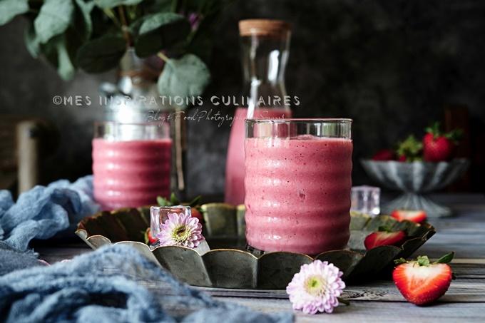 Recette smoothie Fraise, recette facile