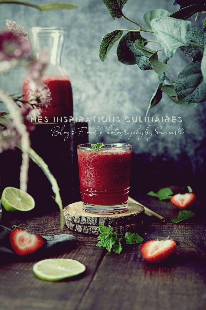 Jus de fraises maison