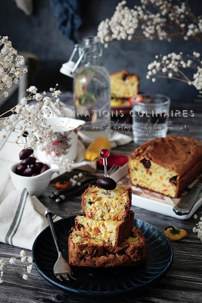 Recette cake aux olives et poivrons