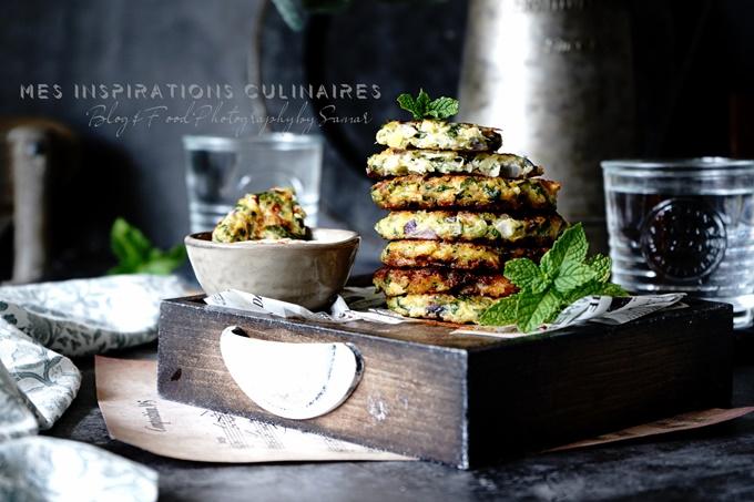 beignets de courgettes frits