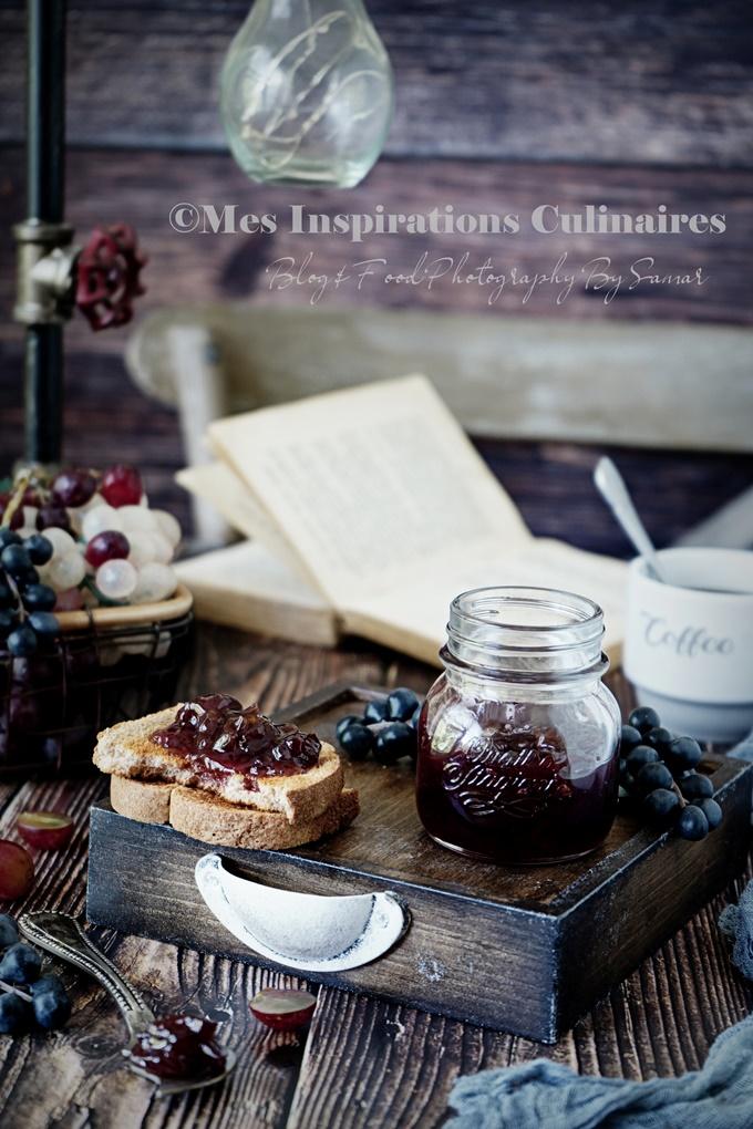 Recette de confiture maison de raisins et myrtille