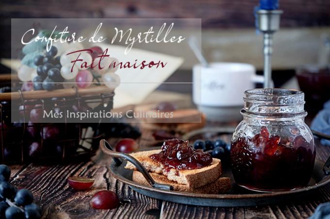 Confiture de myrtilles et raisins