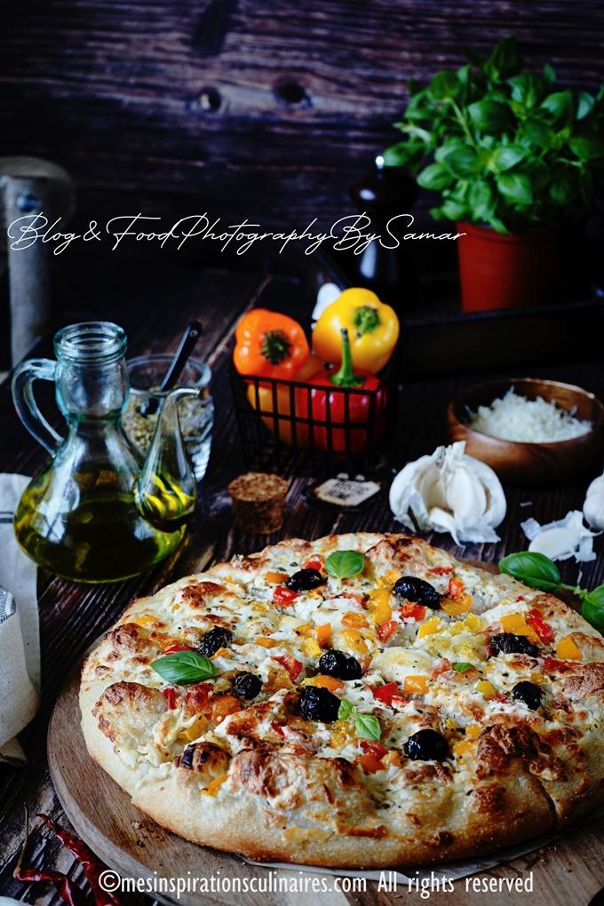 pizza blanche vegetarienne