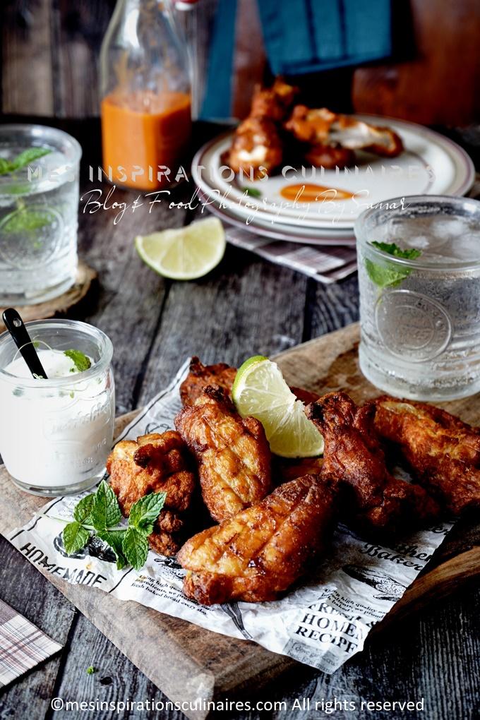 les ailes de poulet au four au melange d'epices barbecue