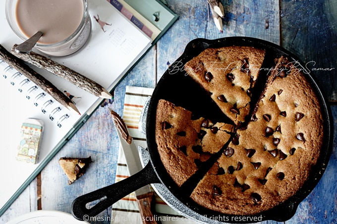 recette du Cookie géant au nutella