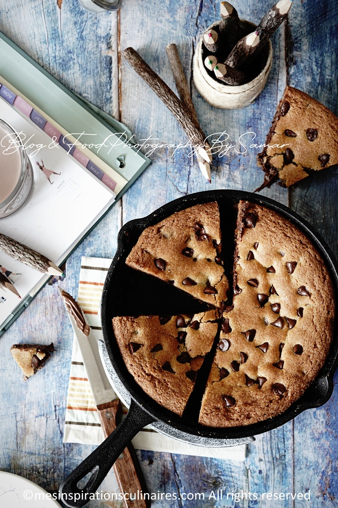 Cookie XXL au Nutella et pepites de chocolat
