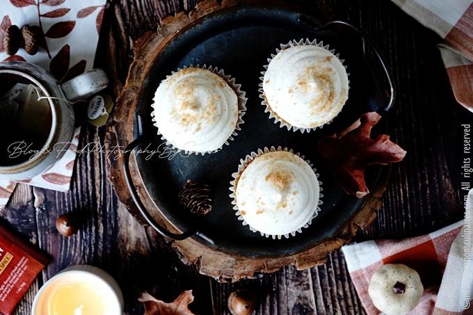 Recette cupcake pumpkin glacage cream cheese
