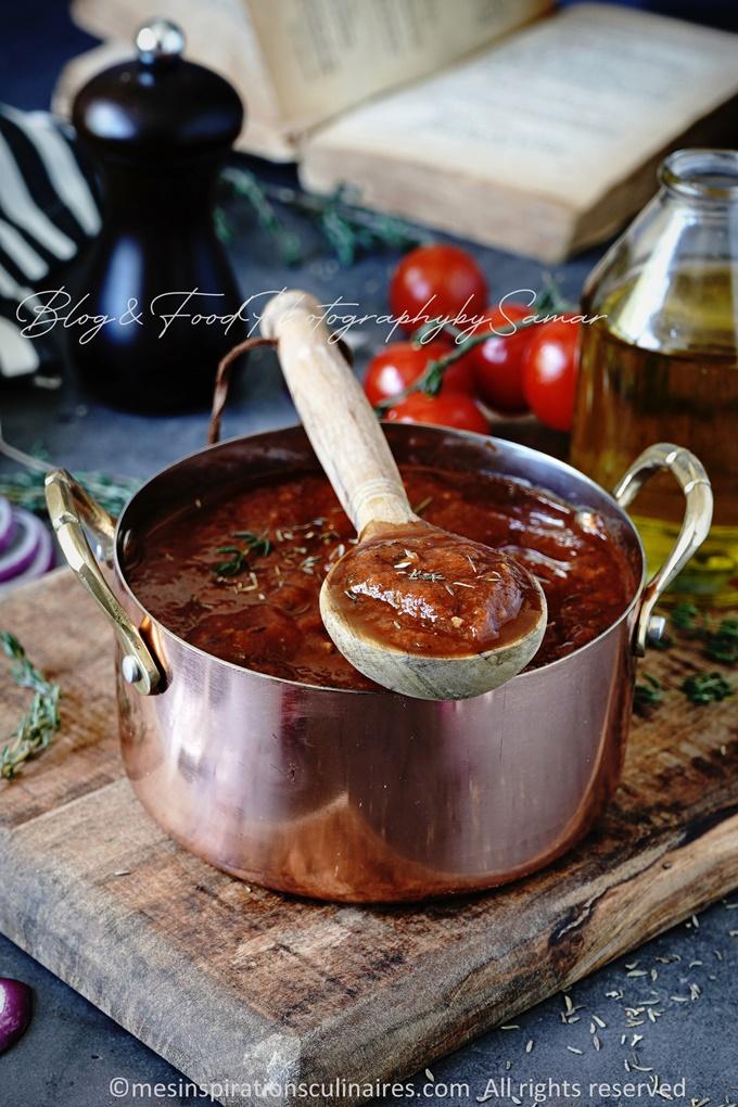 sauce maison a la tomate fraiche