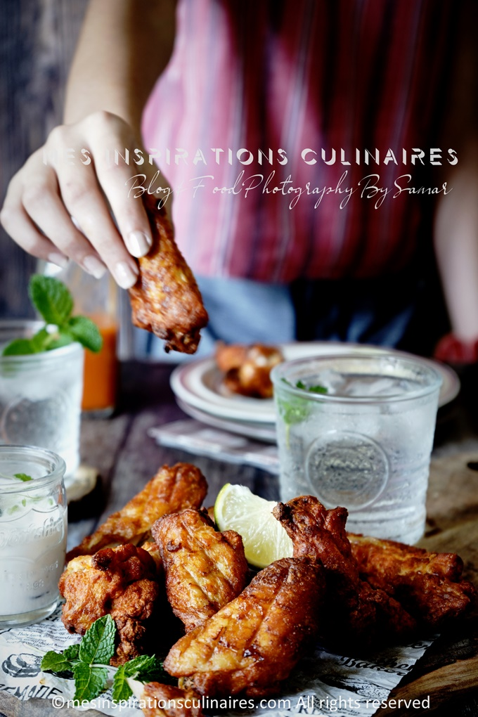 chicken wings croustillant aux epice barbecue