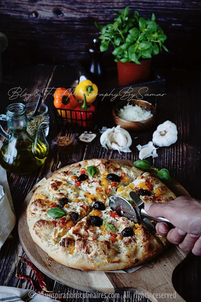 pate a pizza epaisse sauce blanche