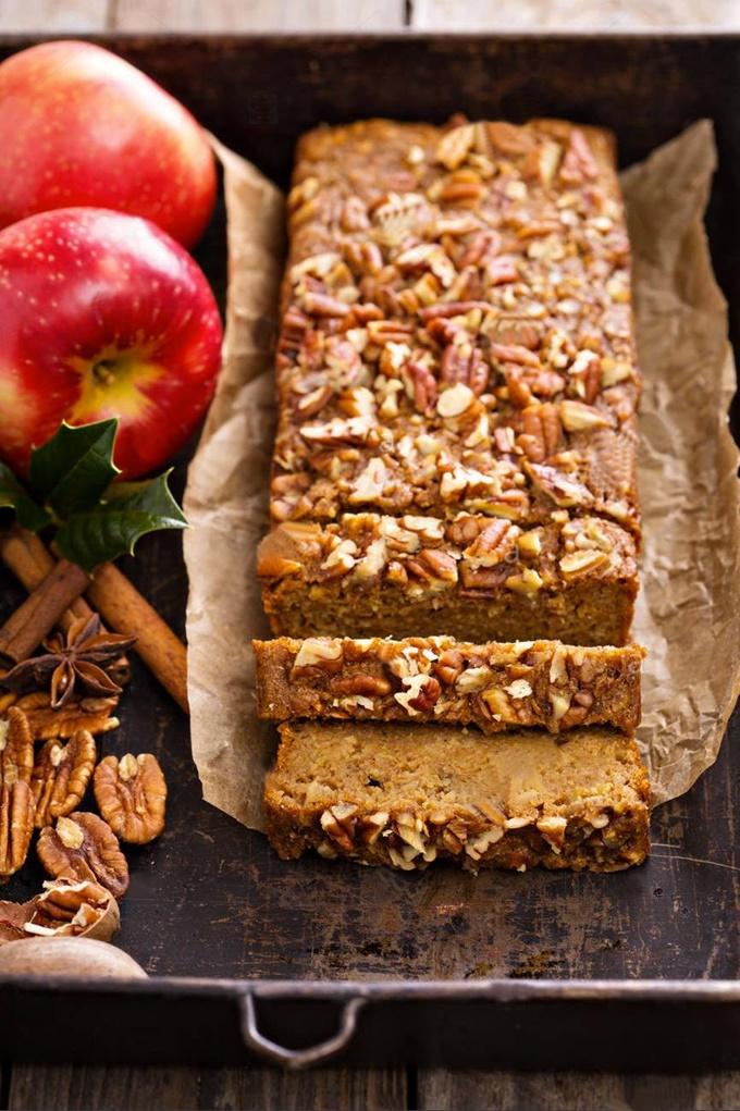 Cake aux pommes noix et cannelle