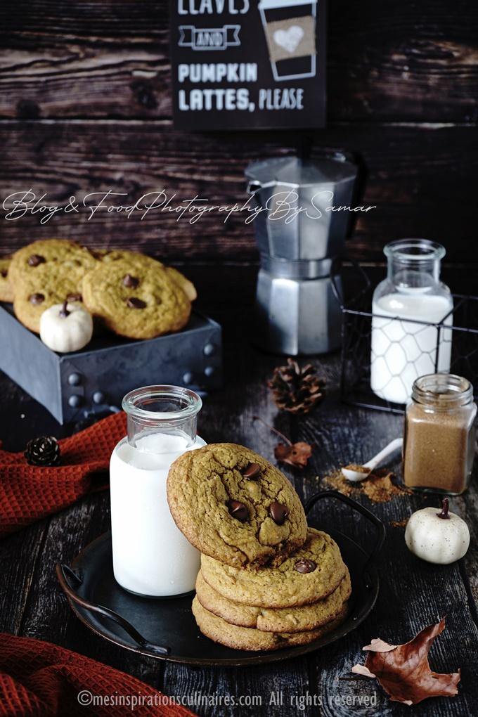 recette de cookies au potimarron et noisettes