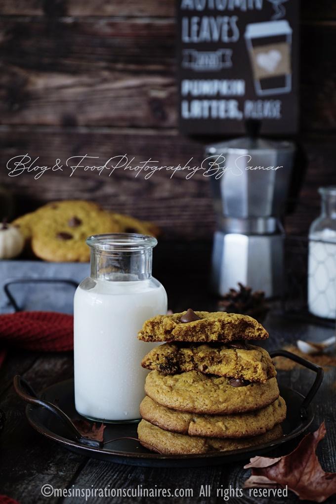 Les cookies au potimarron et pépites de chocolat