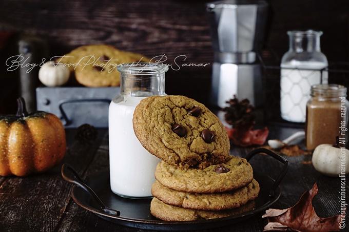 Cookies au potimarron (pumpkin) et noisettes