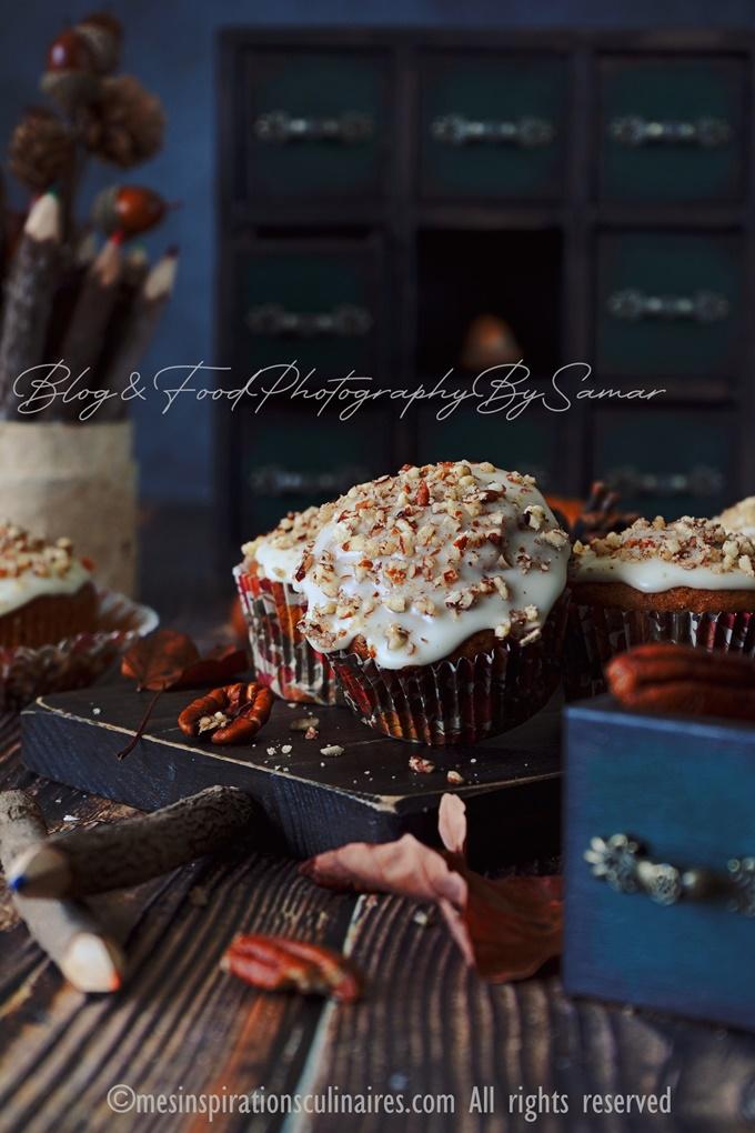 Recette muffins banane et noix