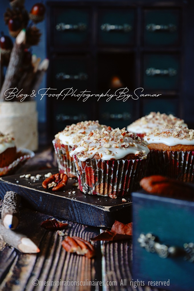 Muffins banane chocolat et noix
