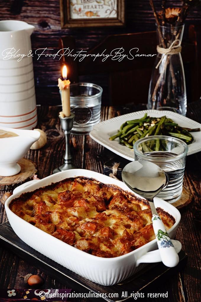 recette gratin au potimarron, pomme de terre et comte