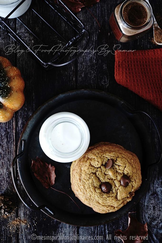 cookie américains a la purée de potimarron (pumpkin)